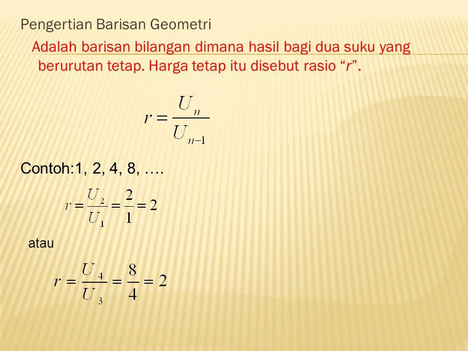 Pengertian Barisan Geometri