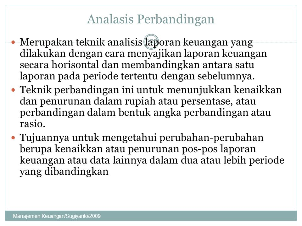 Analasis Perbandingan