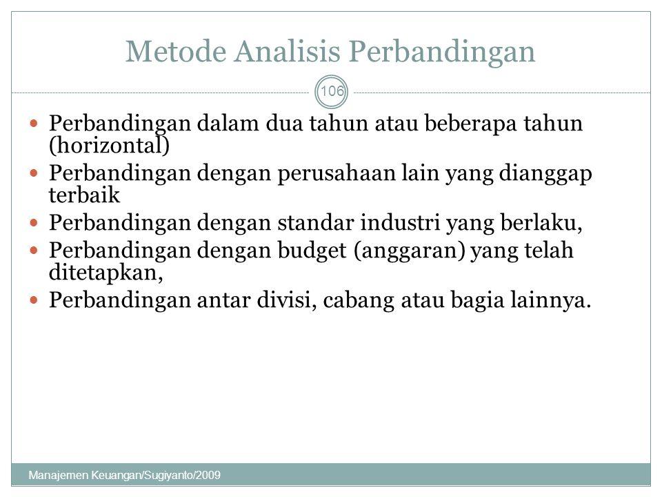 Metode Analisis Perbandingan