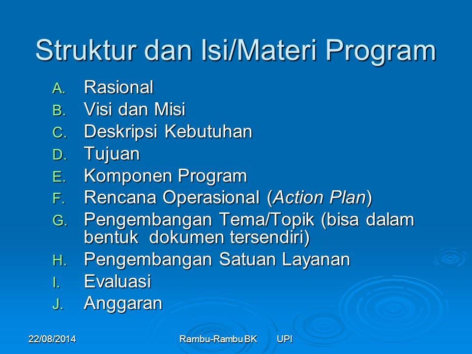 Struktur dan Isi/Materi Program