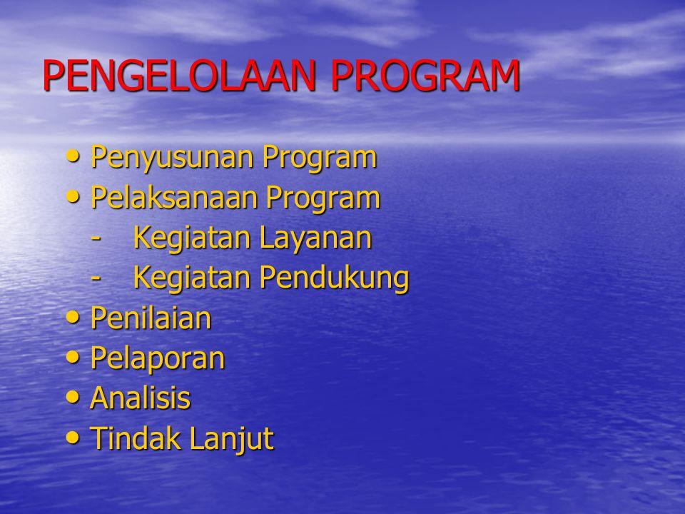 PENGELOLAAN PROGRAM Penyusunan Program Pelaksanaan Program