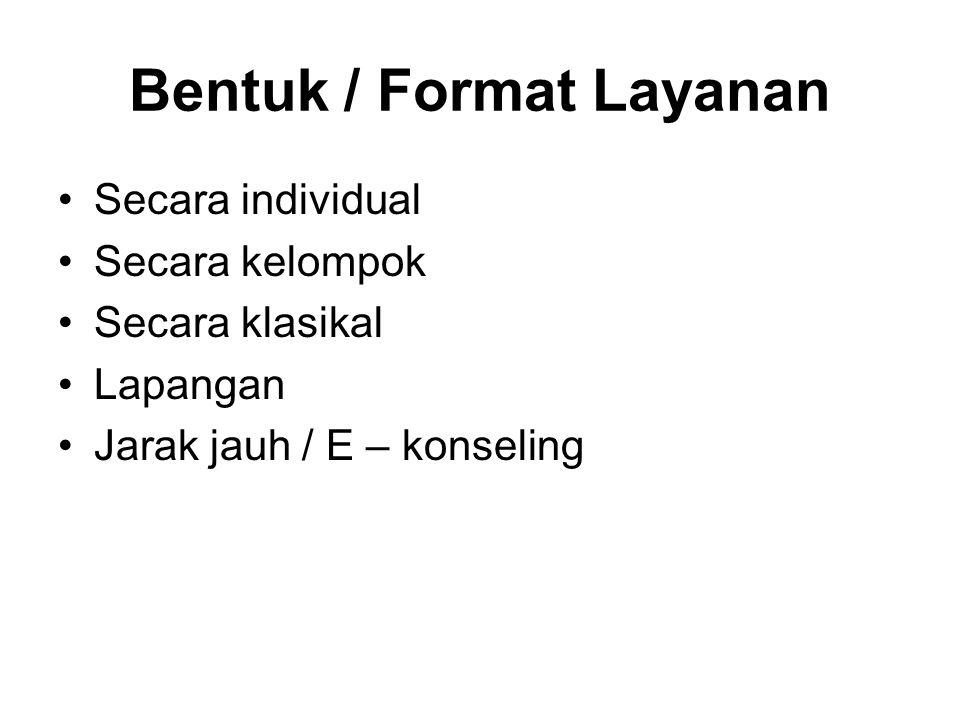 Bentuk / Format Layanan
