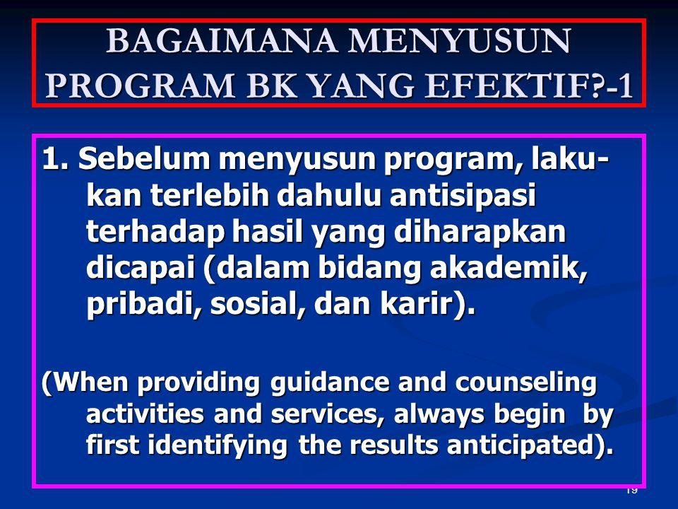 BAGAIMANA MENYUSUN PROGRAM BK YANG EFEKTIF -1