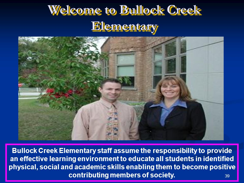 Welcome to Bullock Creek Elementary