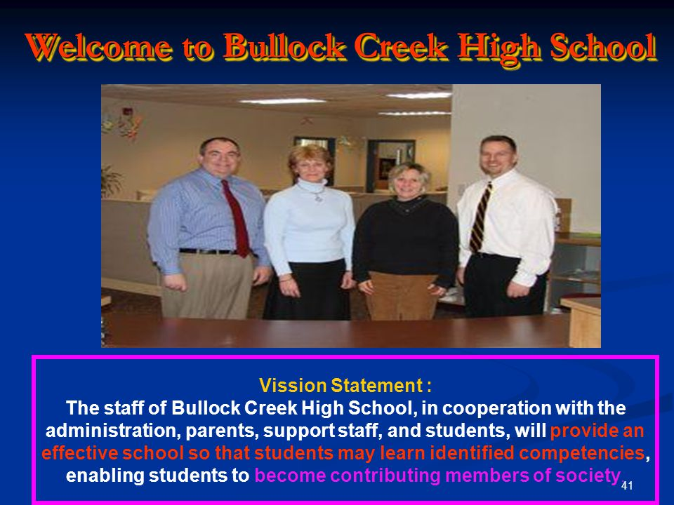 Welcome to Bullock Creek High School