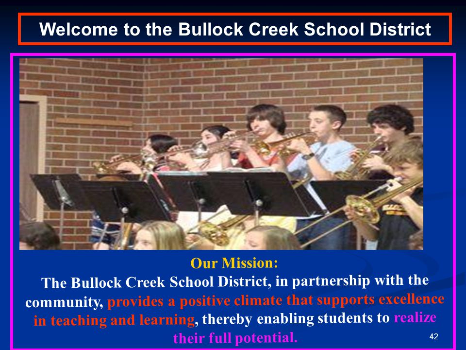 Welcome to the Bullock Creek School District
