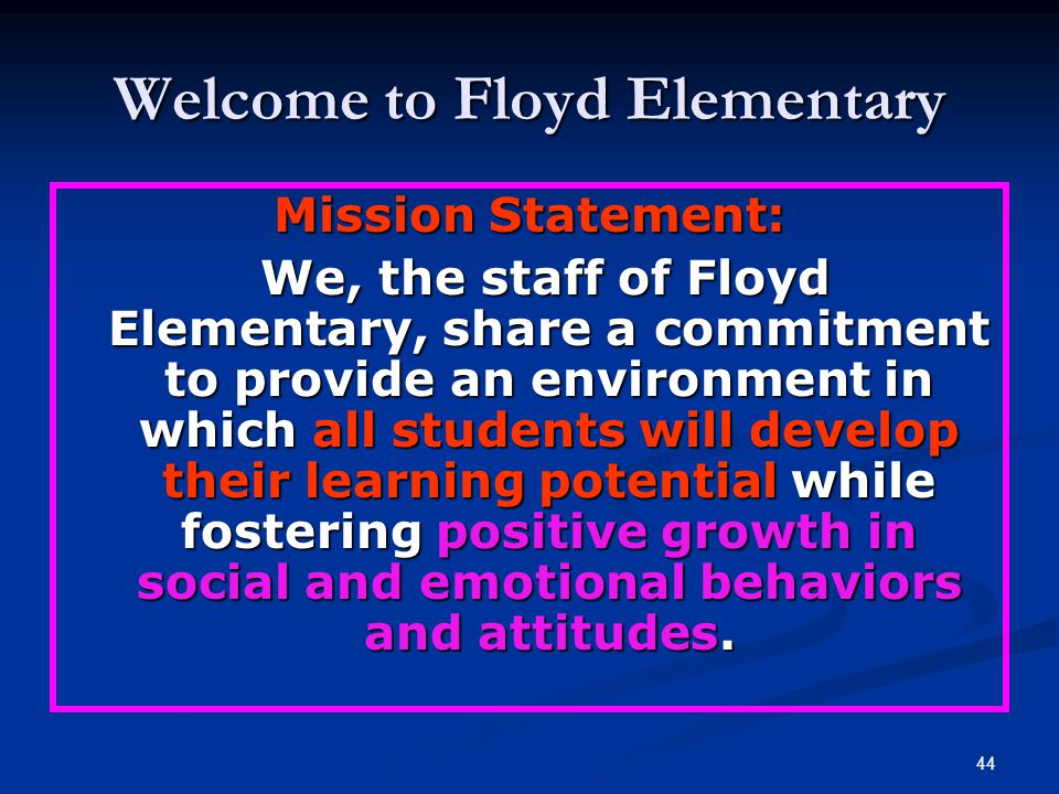 Welcome to Floyd Elementary