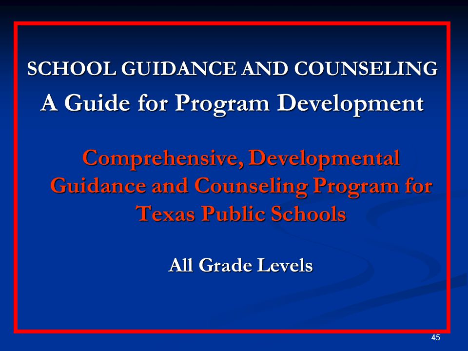 SCHOOL GUIDANCE AND COUNSELING