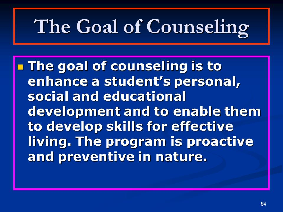 The Goal of Counseling