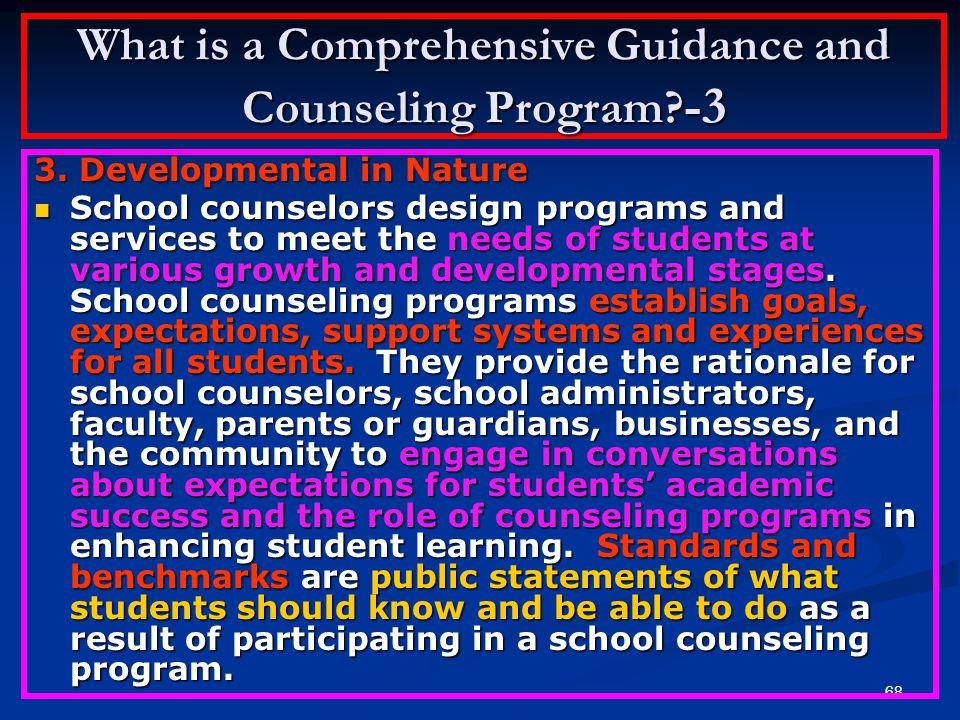 What is a Comprehensive Guidance and Counseling Program -3