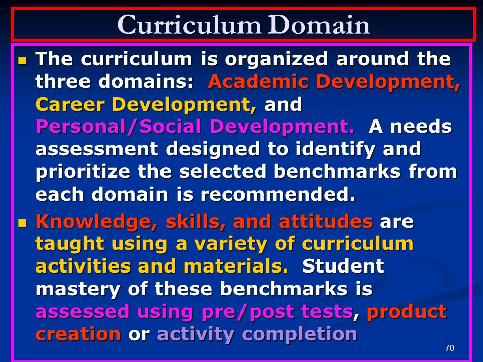 Curriculum Domain