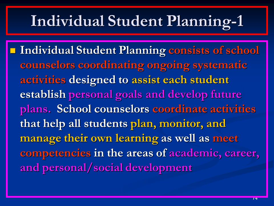 Individual Student Planning-1