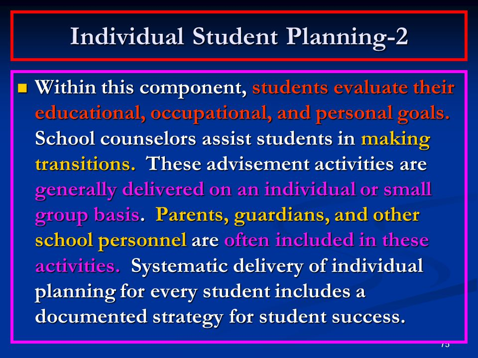 Individual Student Planning-2