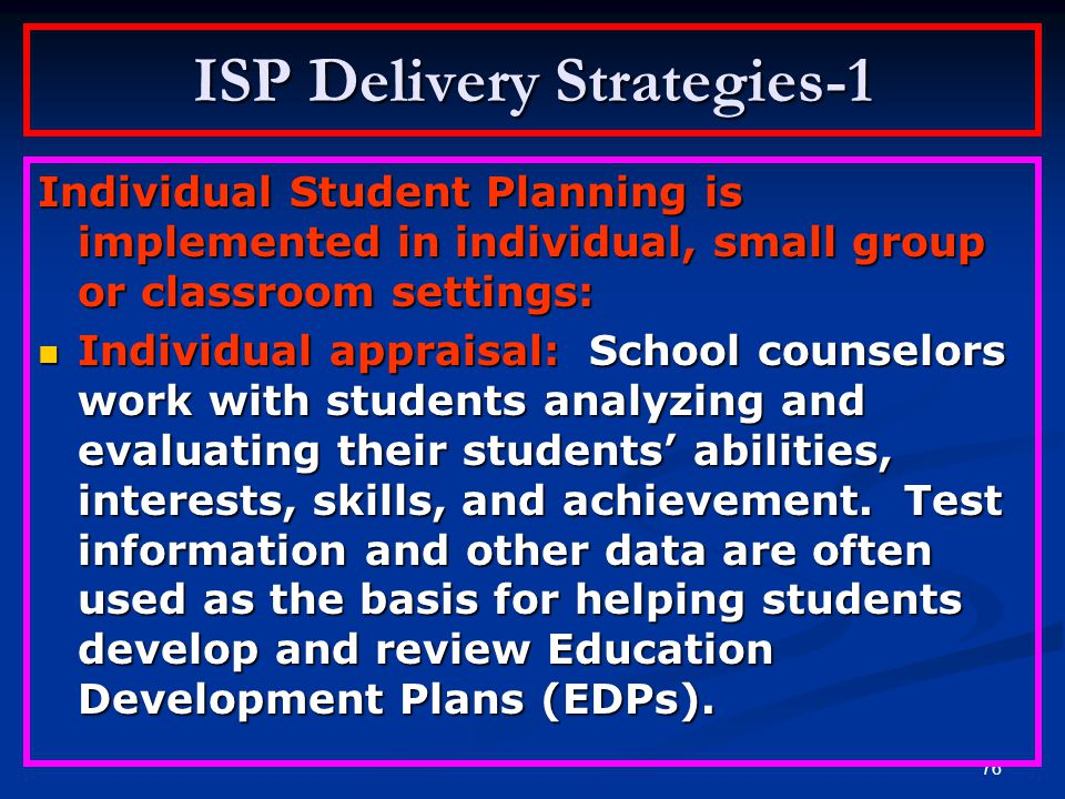 ISP Delivery Strategies-1