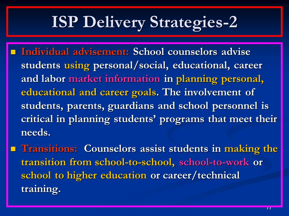 ISP Delivery Strategies-2
