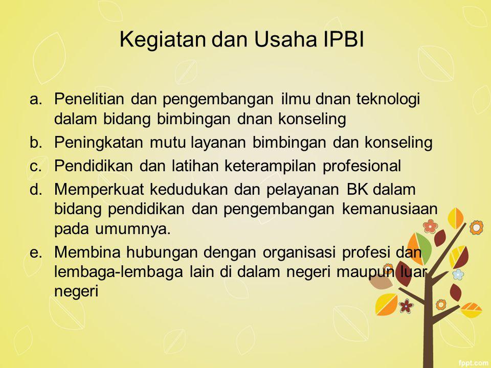 Kegiatan dan Usaha IPBI
