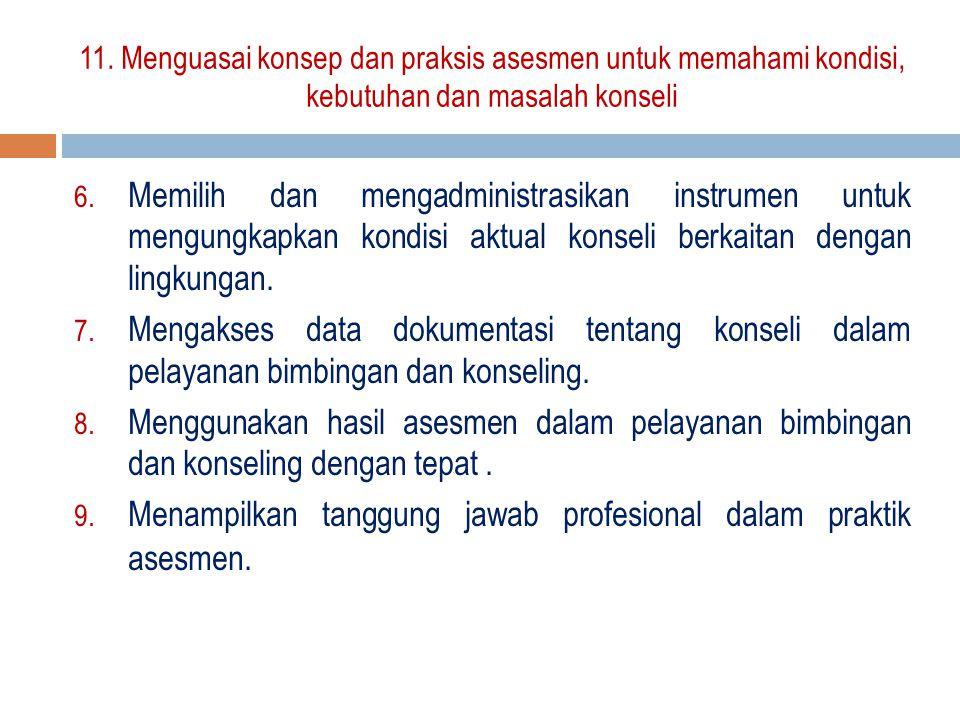 Menampilkan tanggung jawab profesional dalam praktik asesmen.