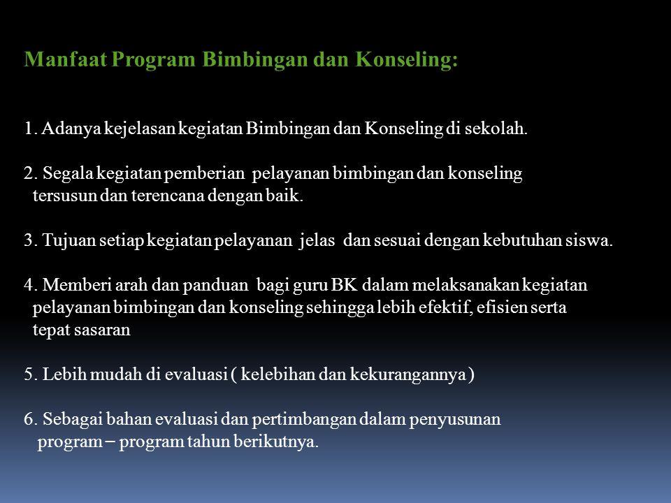 Manfaat Program Bimbingan dan Konseling: