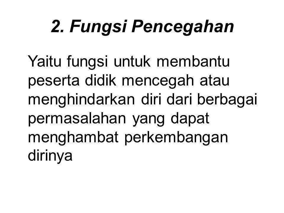 2. Fungsi Pencegahan