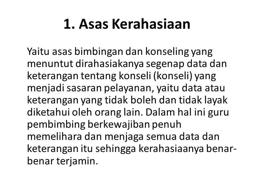 1. Asas Kerahasiaan