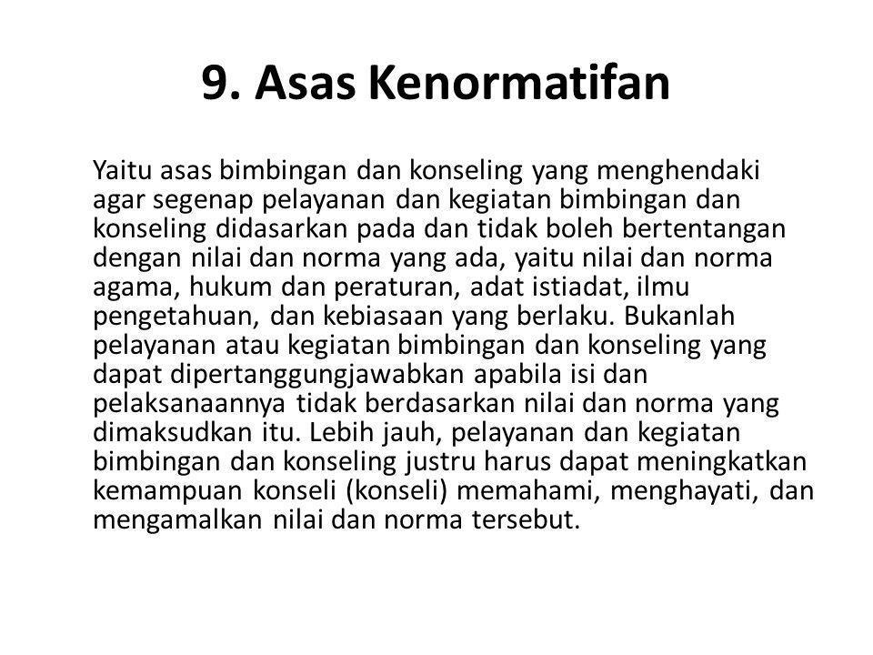 9. Asas Kenormatifan