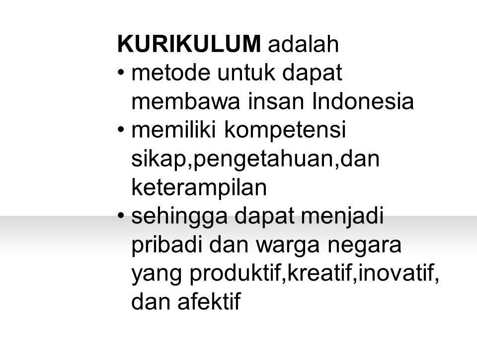 metode untuk dapat membawa insan Indonesia