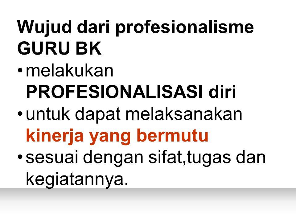 Wujud dari profesionalisme GURU BK