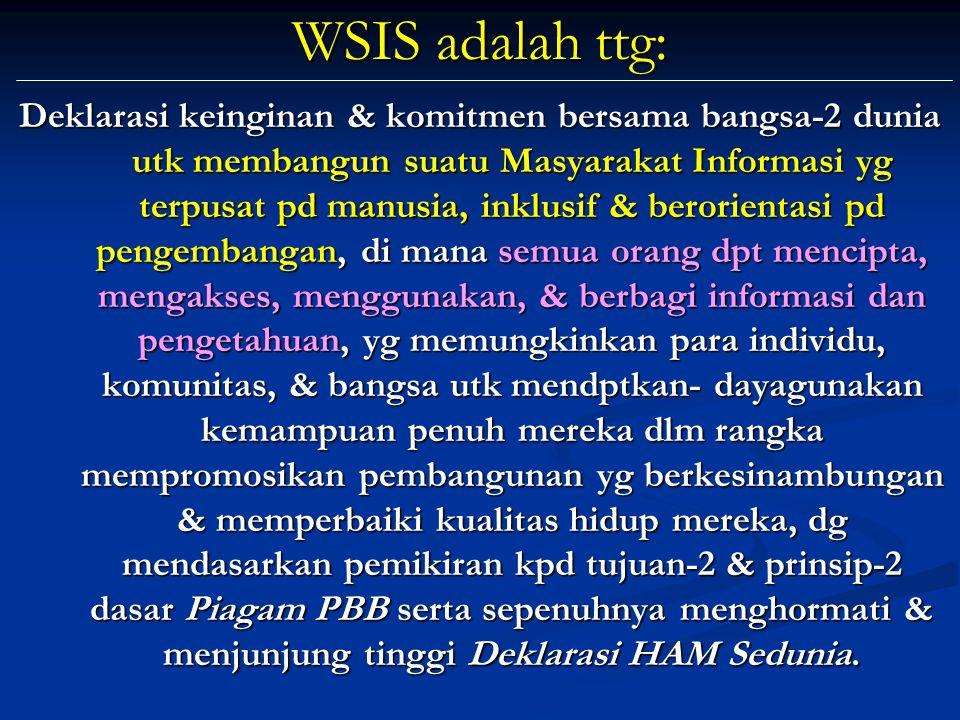 WSIS adalah ttg: