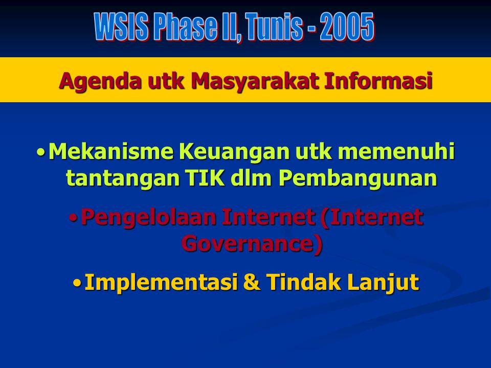 Agenda utk Masyarakat Informasi