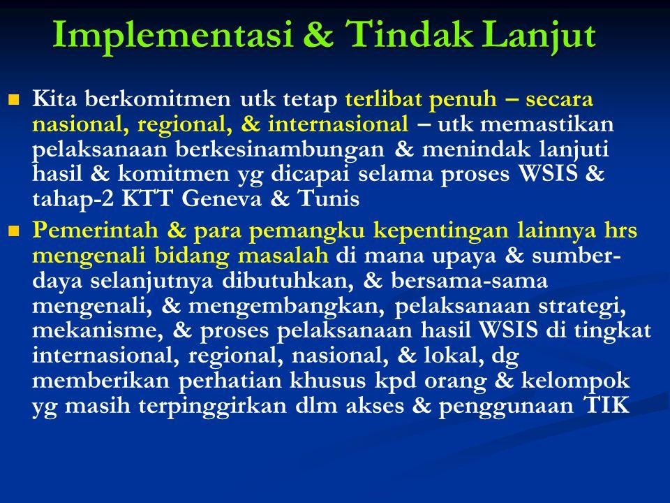 Implementasi & Tindak Lanjut