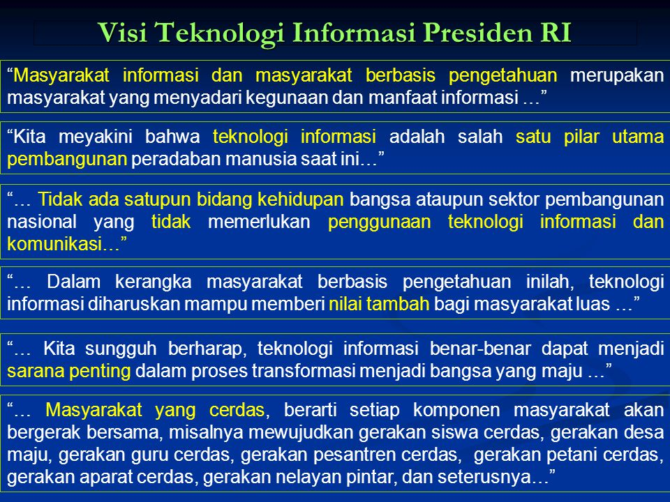 Visi Teknologi Informasi Presiden RI