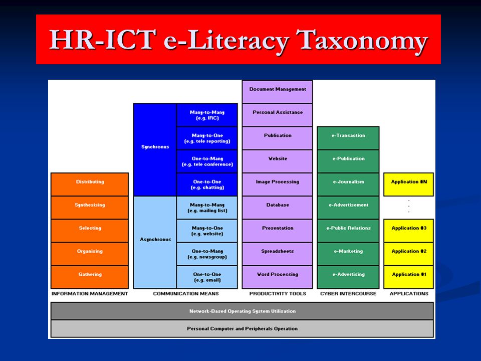 HR-ICT e-Literacy Taxonomy