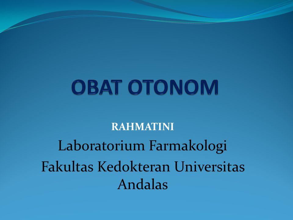 OBAT OTONOM Laboratorium Farmakologi