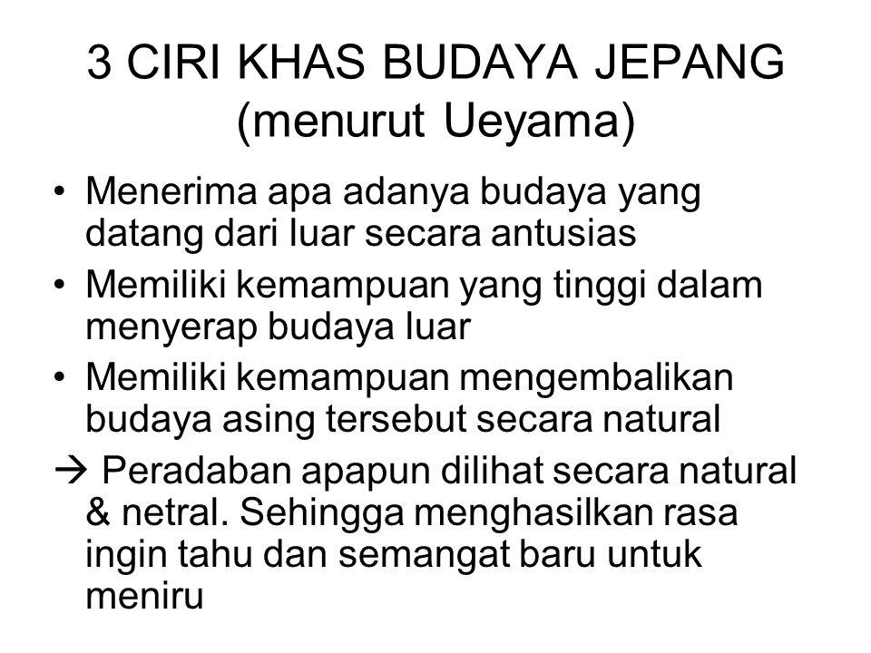 3 CIRI KHAS BUDAYA JEPANG (menurut Ueyama)