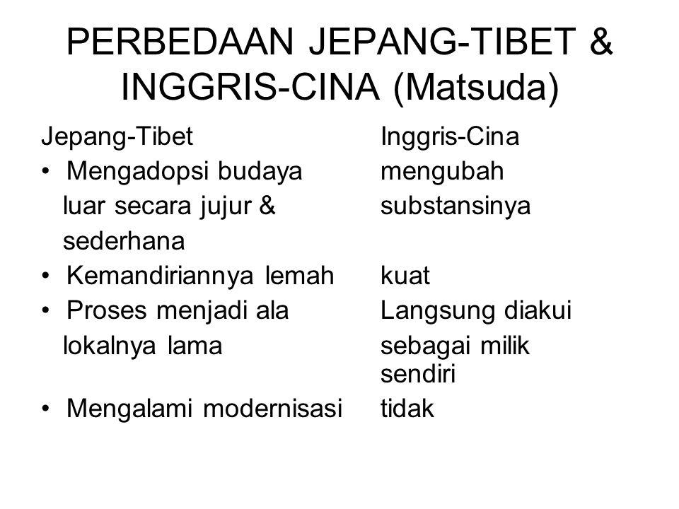 PERBEDAAN JEPANG-TIBET & INGGRIS-CINA (Matsuda)