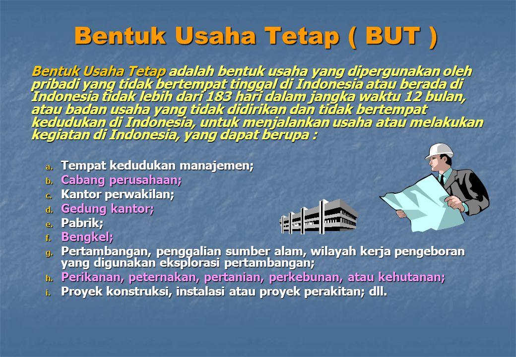 Bentuk Usaha Tetap ( BUT )