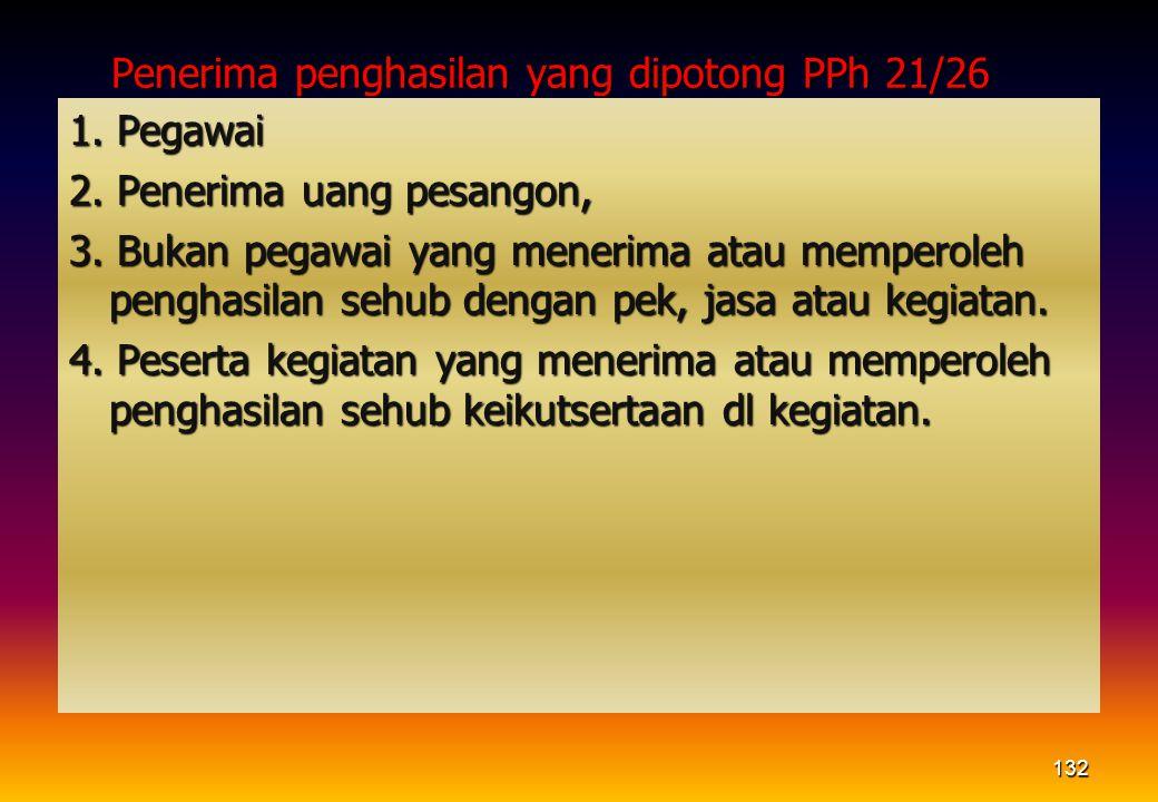 Penerima penghasilan yang dipotong PPh 21/26