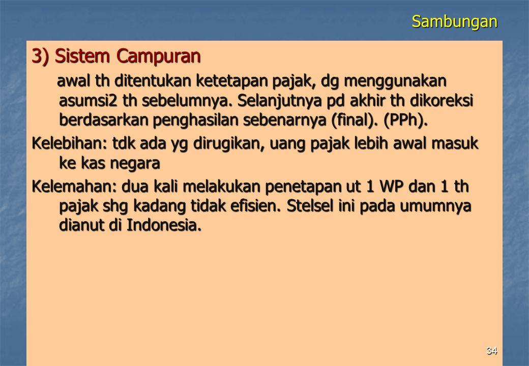 3) Sistem Campuran Sambungan