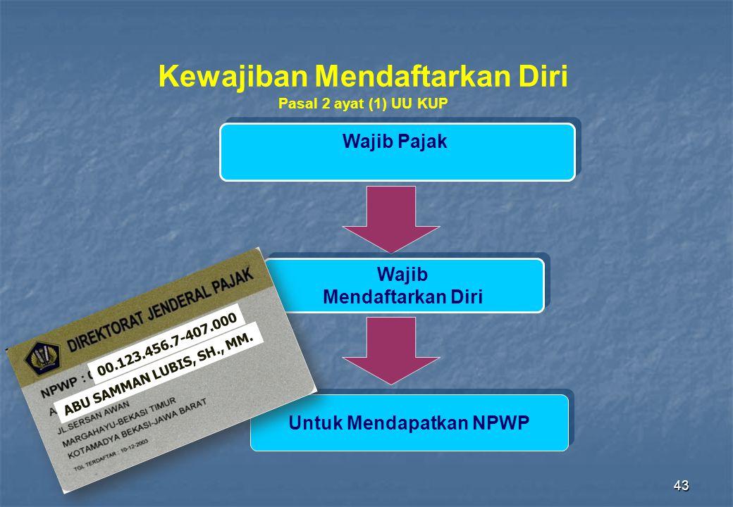 Kewajiban Mendaftarkan Diri Untuk Mendapatkan NPWP