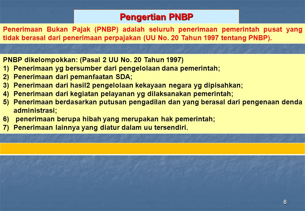 Pengertian PNBP