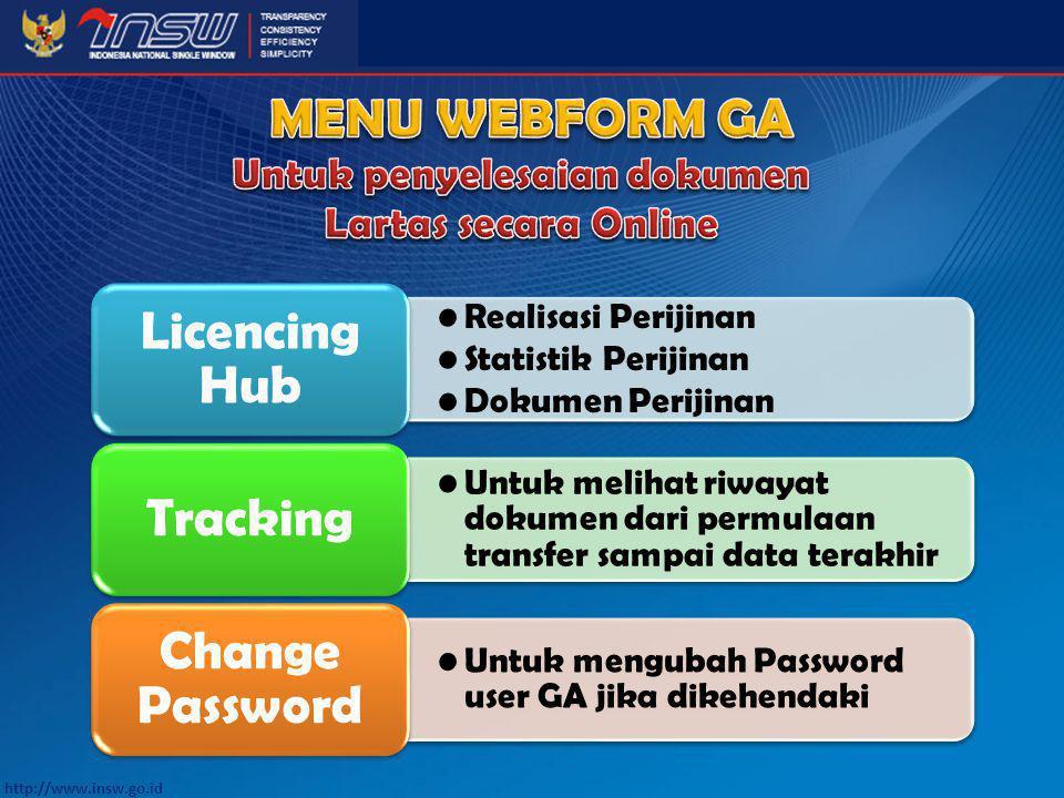 Untuk penyelesaian dokumen Lartas secara Online