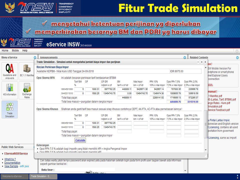 Fitur Trade Simulation
