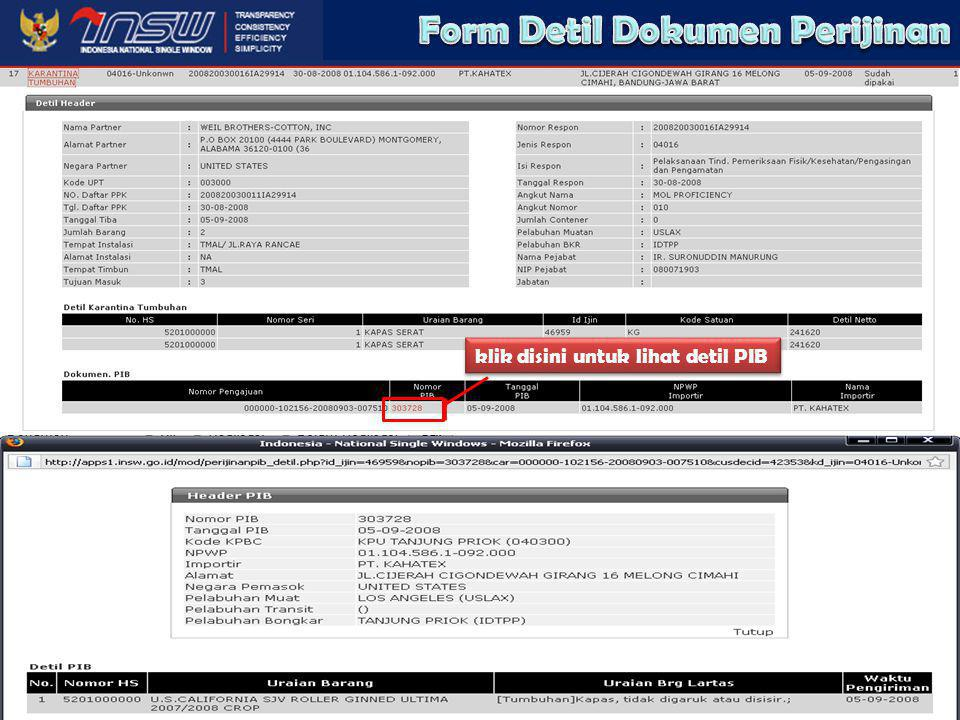 Form Detil Dokumen Perijinan