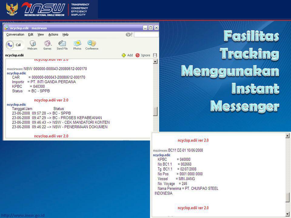 Fasilitas Tracking Menggunakan Instant Messenger