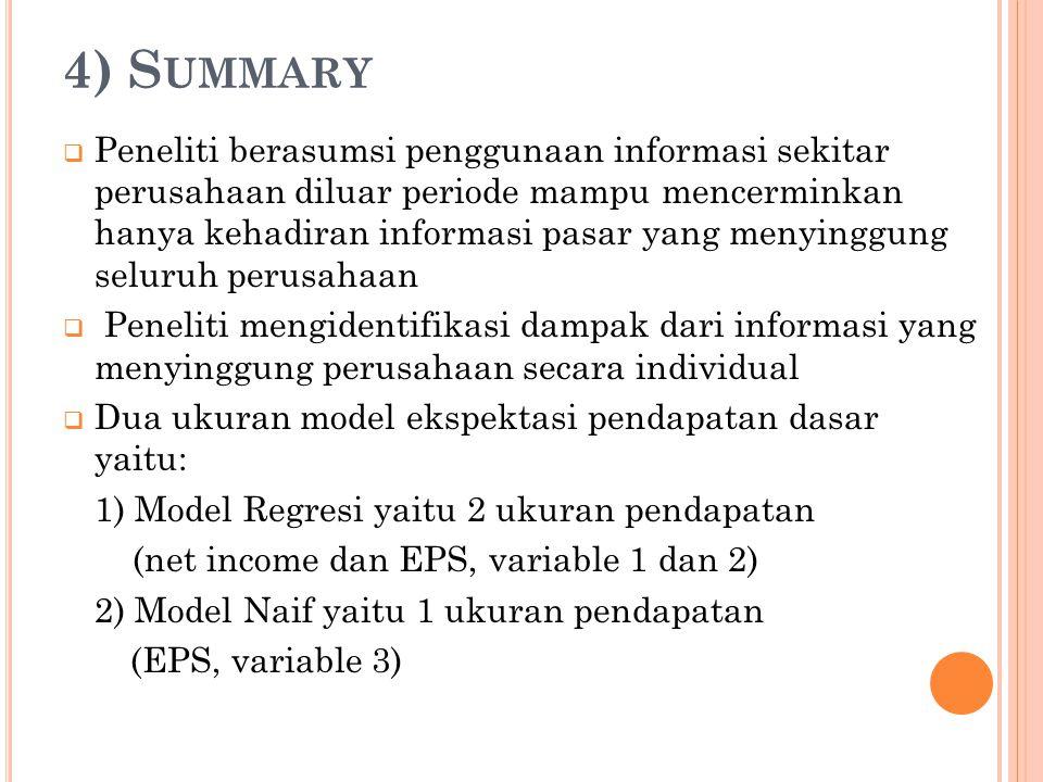 4) Summary
