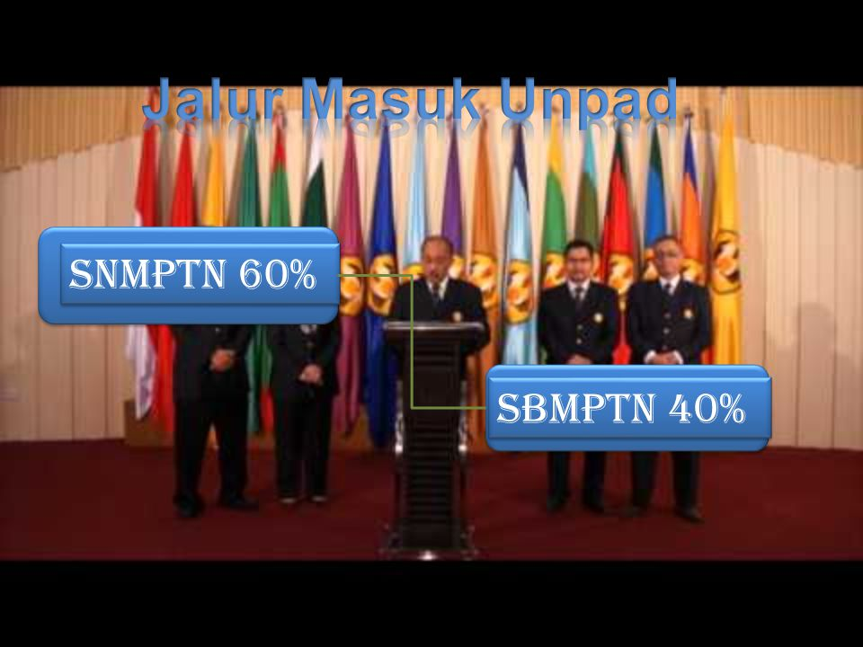 Jalur Masuk Unpad SNMPTN 60% SBMPTN 40%