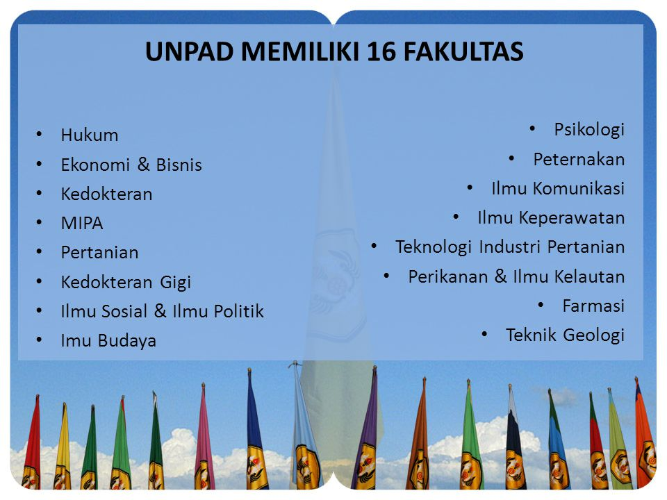 UNPAD MEMILIKI 16 FAKULTAS