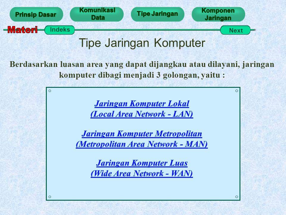 Materi Tipe Jaringan Komputer