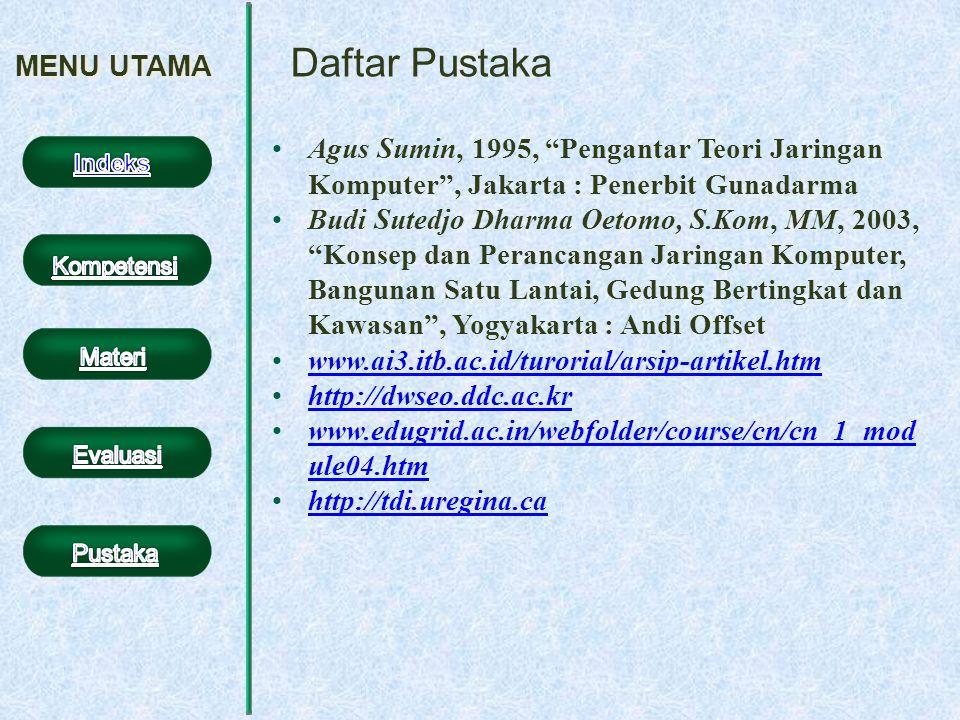 Daftar Pustaka MENU UTAMA
