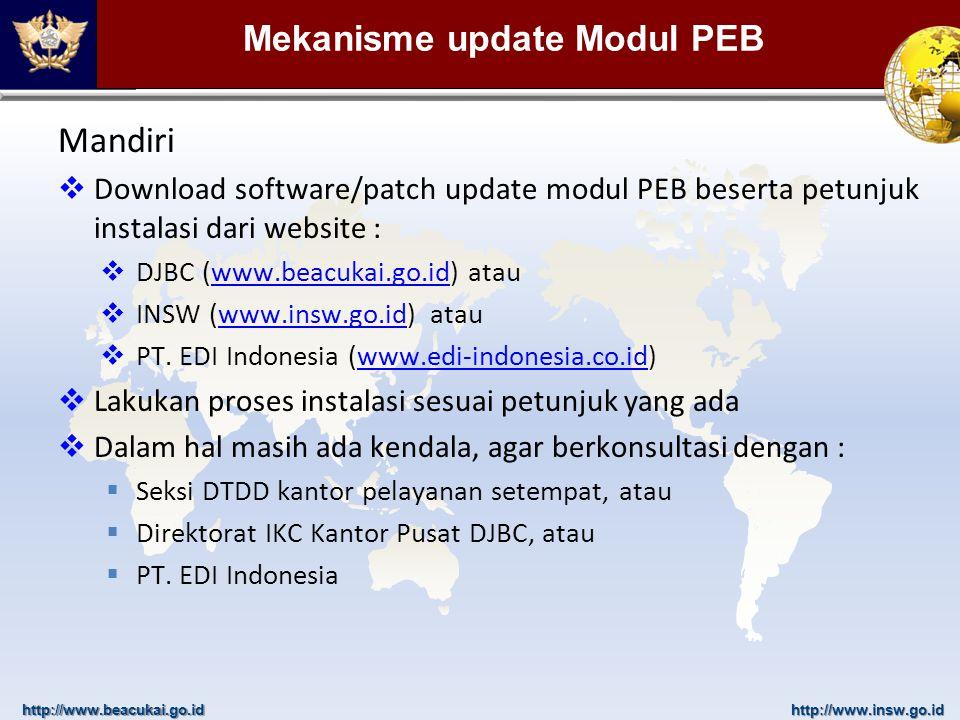 Mekanisme update Modul PEB